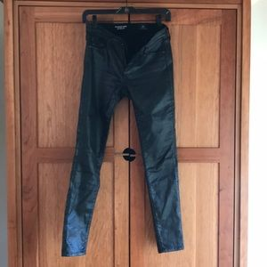 AG faux leather jeans